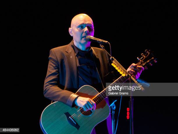 Billy Corgan performs at Ravinia on August 30 2014 in Highland Park Illinois