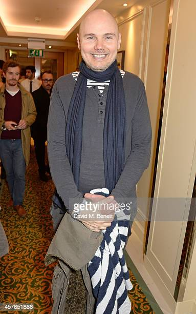 Billy Corgan poses in the press room at the Xperia Access Q Awards at The Grosvenor House Hotel on October 22 2014 in London England