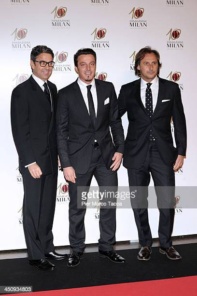 Billy Costacurta and Massimo Oddo attend the Fondazione Milan 10th Anniversary Gala photocall on November 20 2013 in Milan Italy