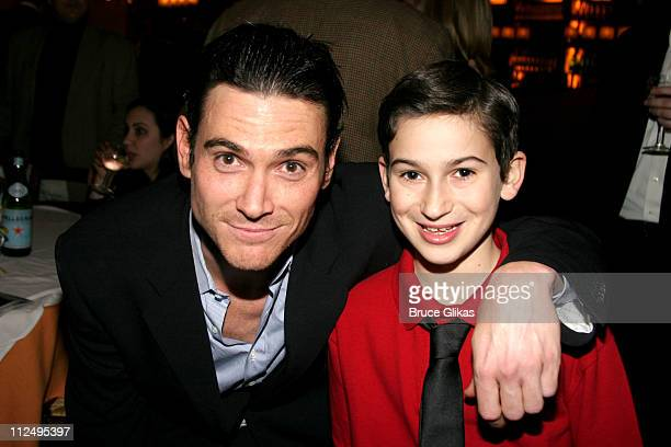 Billy Crudup and Jesse Shane Bronstein during Opening Night of Martin McDonagh's 'The Pillowman' on Broadway Curtain Call and After Party at Osteria...