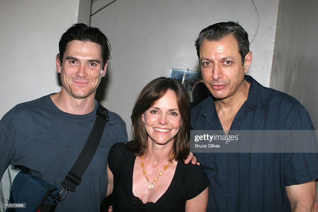 Billy Crudup Sally Field and Jeff Goldblum during Sally Field Visits 'The Pillowman' on Broadway at The Booth Theater in New York City New York...