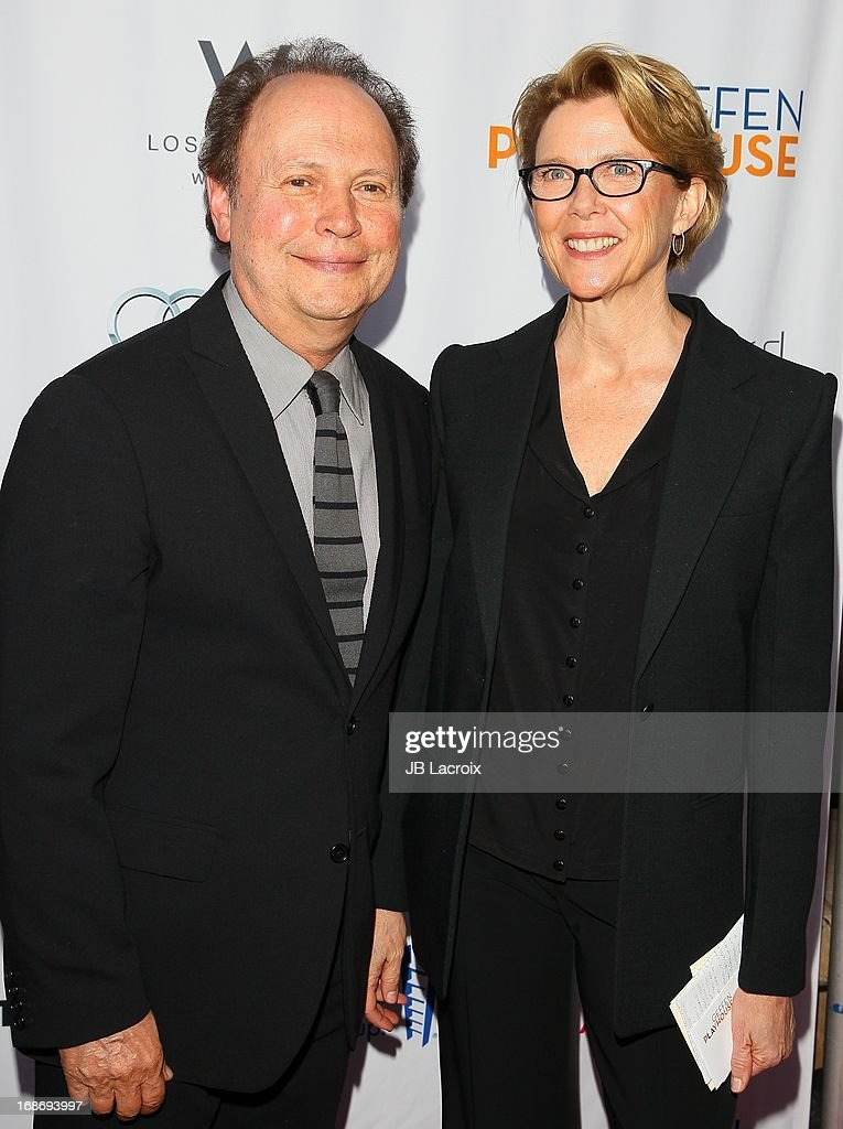 <a gi-track='captionPersonalityLinkClicked' href=/galleries/search?phrase=Billy+Crystal&family=editorial&specificpeople=202497 ng-click='$event.stopPropagation()'>Billy Crystal</a> and <a gi-track='captionPersonalityLinkClicked' href=/galleries/search?phrase=Annette+Bening&family=editorial&specificpeople=202568 ng-click='$event.stopPropagation()'>Annette Bening</a> attend the 'Backstage At The Geffen' honoring <a gi-track='captionPersonalityLinkClicked' href=/galleries/search?phrase=Billy+Crystal&family=editorial&specificpeople=202497 ng-click='$event.stopPropagation()'>Billy Crystal</a> at Geffen Playhouse on May 13, 2013 in Los Angeles, California.
