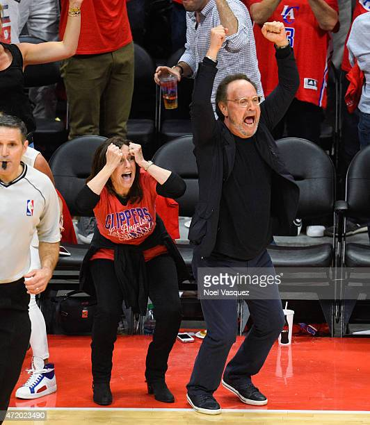 Billy Crystal and his wife Janice Crystal attend basketball game between the San Antonio Spurs and Los Angeles Clippers at Staples Center on May 2...