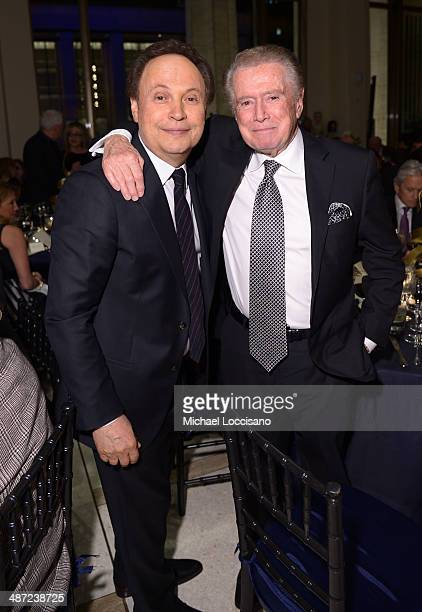 Billy Crystal and Regis Philbin attend the 41st Annual Chaplin Award Gala dinner at Avery Fisher Hall at Lincoln Center for the Performing Arts on...