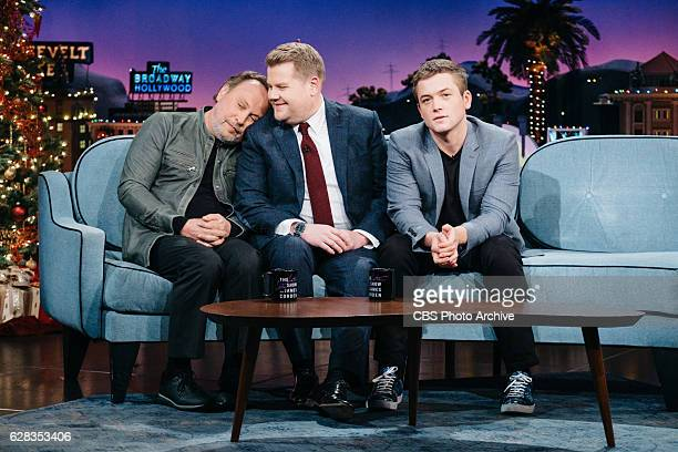 Billy Crystal and Taron Egerton chat with James Corden during 'The Late Late Show with James Corden' Tuesday December 6 2016 On The CBS Television...