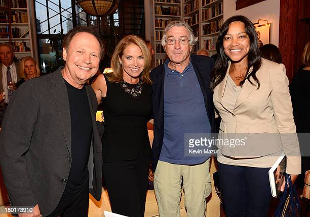 Billy Crystal Katie Couric Robert DeNiro and Grace Hightower attend the publication party for 'Still Foolin' Em' By Billy Crystal at Private...