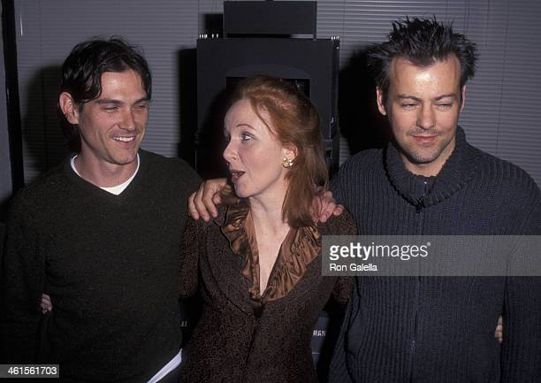 Billy Cudup Kate Burton and Rupert Graves attend the press conference for 'The Elephant Man' on February 11 2002 at the Manhattan Theater Club in New...