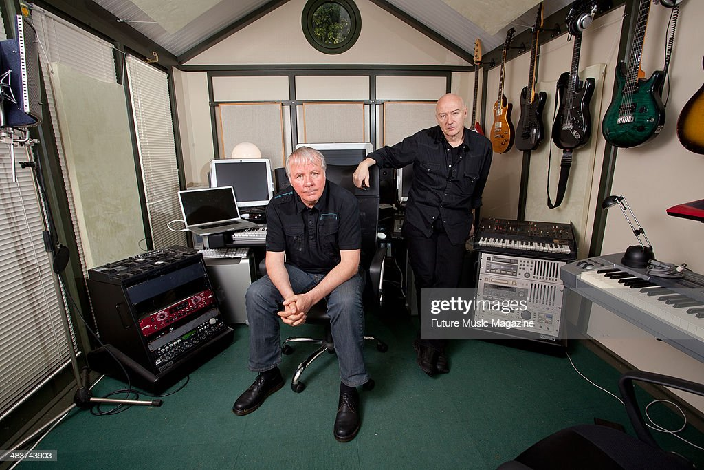 Billy Currie and Midge Ure of British new wave rock band Ultravox photographed during a portrait shoot at Midge's home studio May 1 2012
