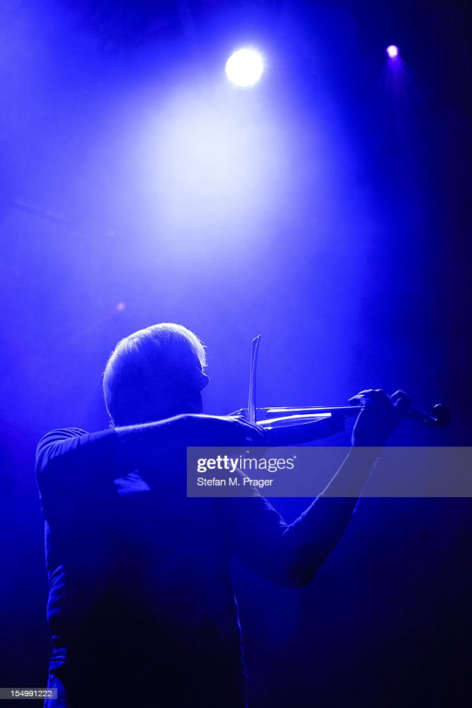 Billy Currie of Ultravox performs on stage at Kesselhaus on October 29, 2012 in Munich, Germany.