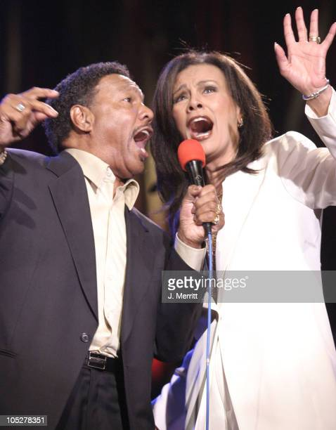 Billy Davis Jr and Marilyn McCoo during Carl Anderson Benefit Concert at Agape International Spiritual Center in Culver City California United States