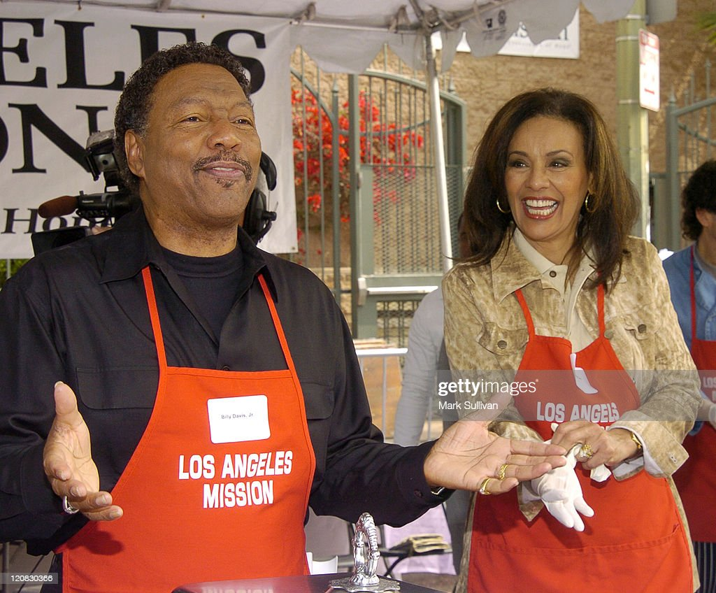 Billy Davis Jr. and Marilyn McCoo during Los Angeles Mission 2004 Easter Celebration at Downtown Los Angeles in Los Angeles, California, United States.