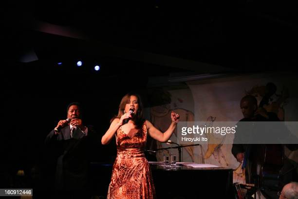 Billy Davis Jrand Marilyn McCoo with the bassist Kevin O'Neal performing at Cafe Carlyle on Tuesday night May 13 2008