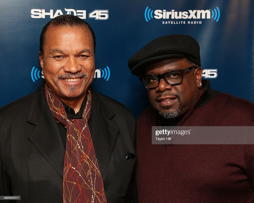 Billy Dee Williams and Cedric the Entertainer visit 'Sway in the Morning' at SiriusXM Studios on April 2 2014 in New York City