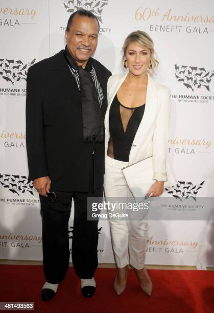 Billy Dee Williams and Emma Slater arrive at The Humane Society Of The United States 60th anniversary benefit gala at The Beverly Hilton Hotel on...