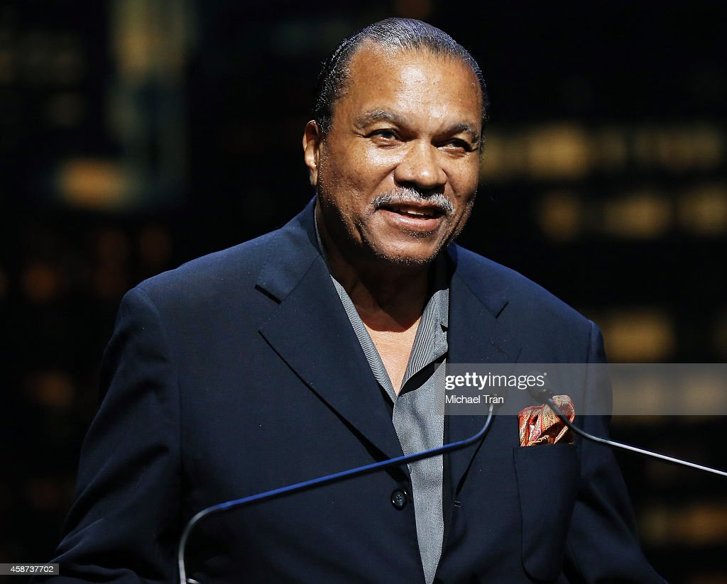 Billy Dee Williams speaks onstage during The Thelonius Monk Jazz Trumpet Competition and All Star Gala concert held at Dolby Theatre on November 9...