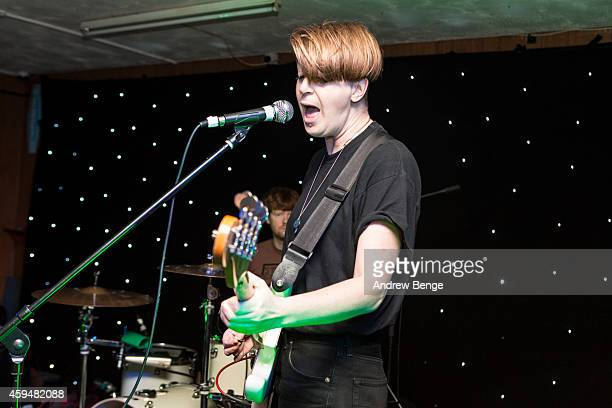 Billy Easter of Shopping performs on stage at Brudenell Social Club on November 23 2014 in Leeds United Kingdom