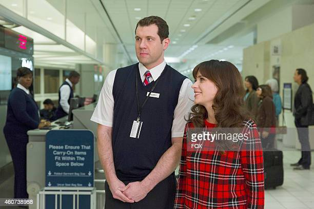 Billy Eichner and Zooey Deschanel in the 'LAXmas' episode of NEW GIRL airing Tuesday Dec 9 2014 on FOX