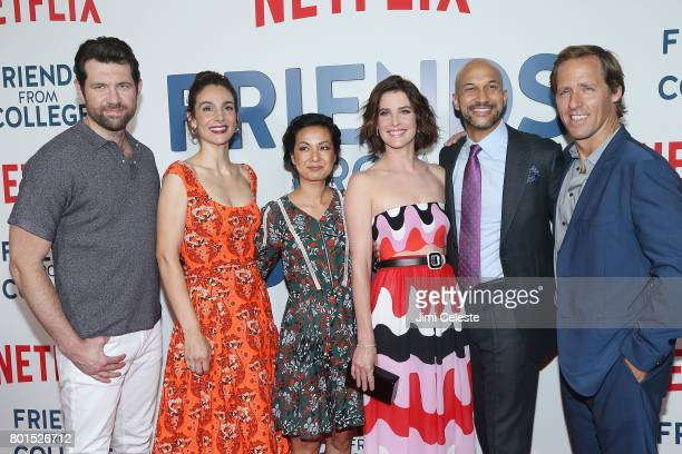 Billy Eichner Anne Parisse Jae Suh Park Cobie Smulders KeeganMichael Key and Nat Faxon attend the 'Friends From College' New York Premiere at AMC...