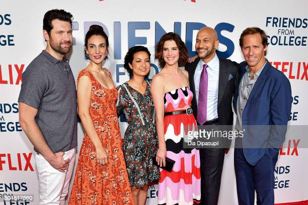 Billy Eichner Annie Parisse Jae Suh Park Cobie Smulders KeeganMichael Key and Nat Faxon attend the 'Friends From College' New York premiere at AMC...