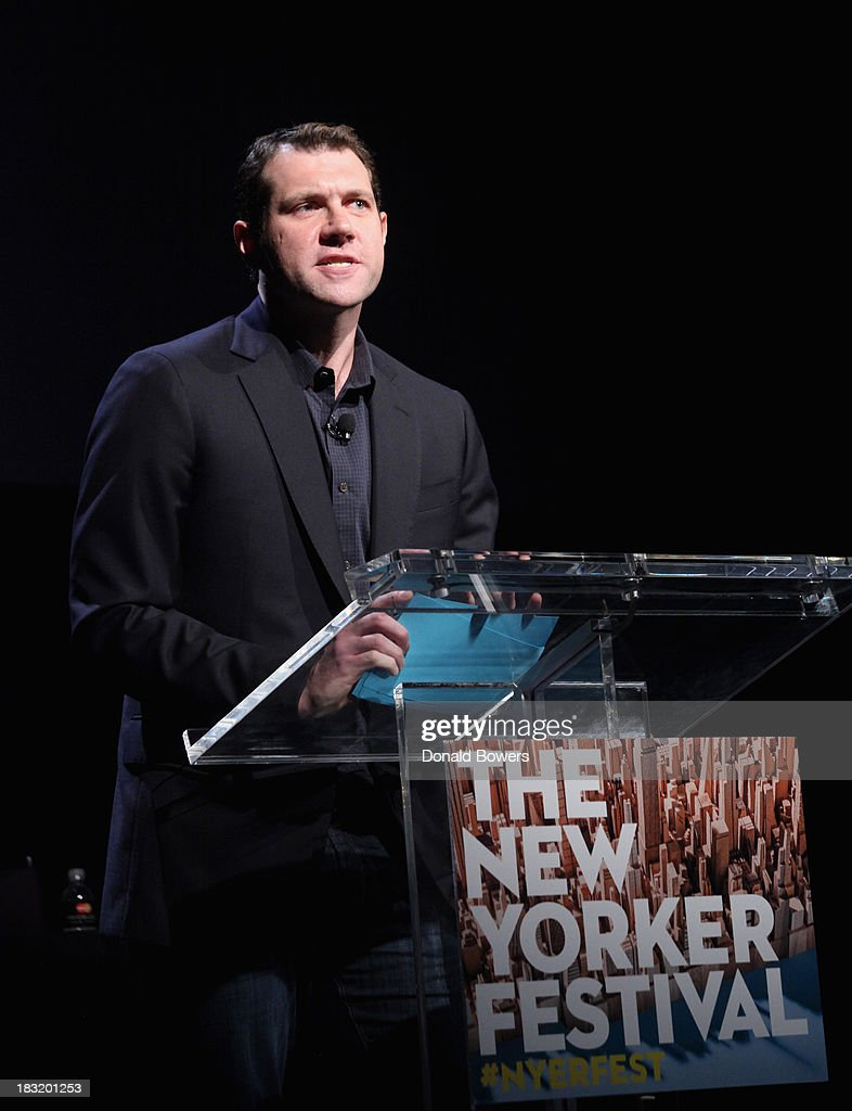 Billy Eichner attends The New Yorker Festival 2013 - An Evening With Funny Or Die Hosted By Billy Eichner at Acura at SIR Stage37 on October 5, 2013 in New York City.