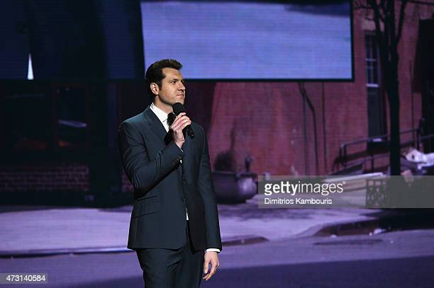 Billy Eichner speaks at the Turner Upfront 2015 at Madison Square Garden on May 13 2015 in New York City JPG