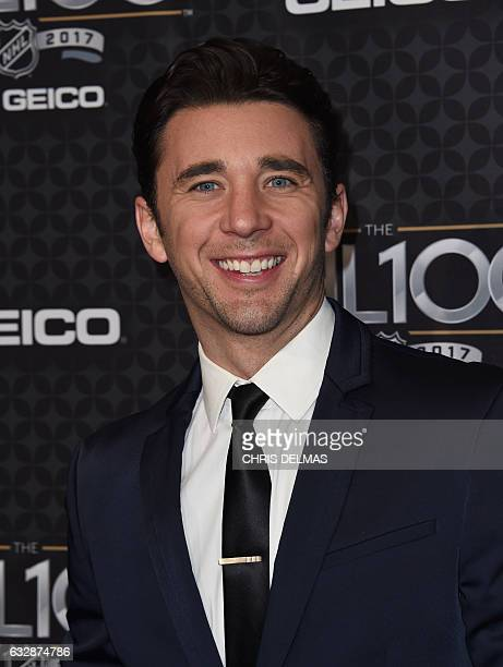Billy Flynn attends the red carpet event for the NHL 100 gala presented by Geico at the Microsoft theatre in Los Angeles on January 27 2017 / AFP /...