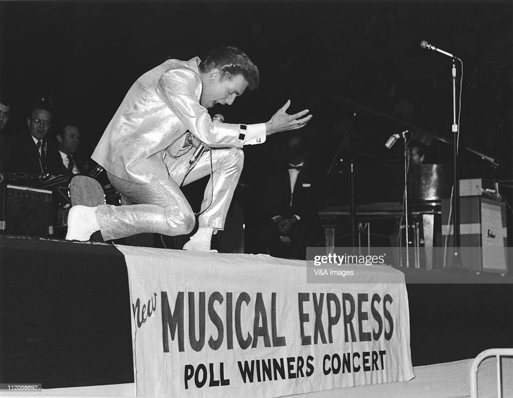 Billy Fury performs on stage at NME Poll Winners Party Wembley Empire Pool 20 February 1960