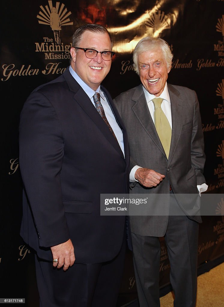 Billy Gardell and Dick Van Dyke attends the Midnight Mission's Golden Heart Awards Gala at the Beverly Wilshire Four Seasons Hotel on October 6, 2016 in Beverly Hills, California.