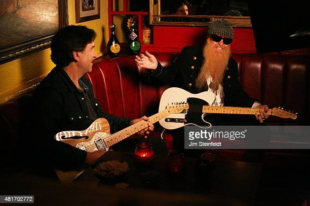 Billy Gibbons and friend pose for a portrait at El Coyote restaurant in Los Angeles California on June 3 2015