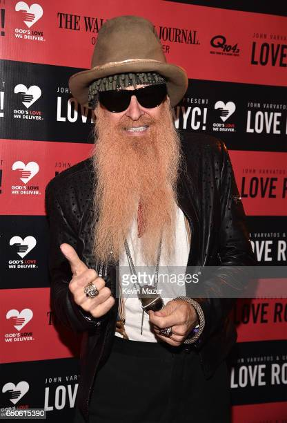 Billy Gibbons attends 'Love Rocks NYC A Change is Gonna Come Celebrating Songs of Peace Love and Hope' A Benefit Concert for God's Love We Deliver at...