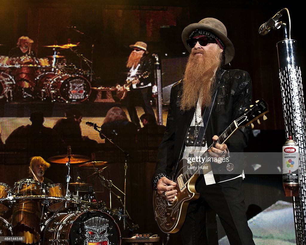 Billy Gibbons is performing with 'Z Z Top' at Fiddlers Green in Englewood Colorado on August 20 2014