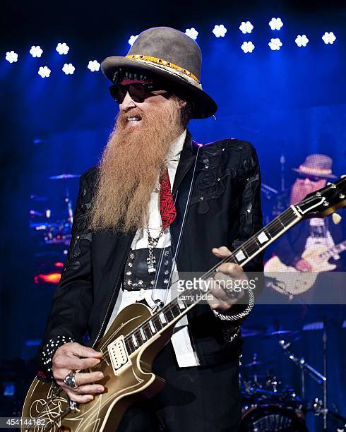 Billy Gibbons is performing with 'Z Z Top' at'Fiddlers Green in Englewood Colorado on August 20 2014