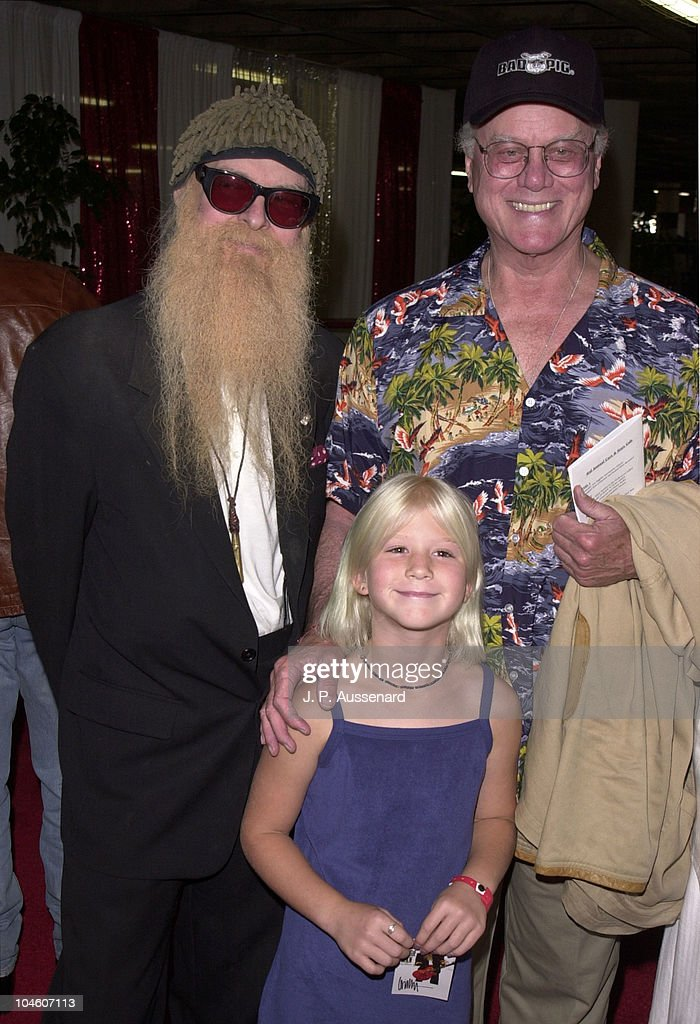 Billy Gibbons, Larry & Rebecca Hagman during 4th Cars & Stars Gala at Petersen Automotive Museum in Los Angeles, California, United States.
