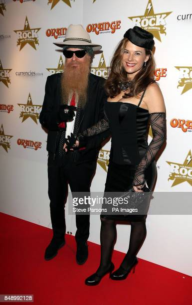 Billy Gibbons of ZZ Top arriving at at the Classic Rock Roll of Honour at The Roundhouse Camden