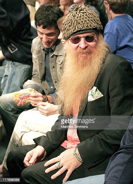 Billy Gibbons of ZZ Top during WWE Monday Night RAW with Surprise Guest Kevin Federline at The Staples Center in Los Angeles California United States