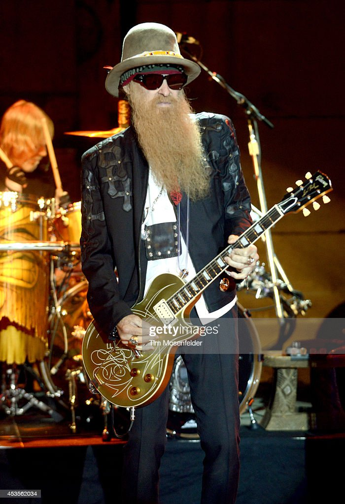 <a gi-track='captionPersonalityLinkClicked' href=/galleries/search?phrase=Billy+Gibbons&family=editorial&specificpeople=242873 ng-click='$event.stopPropagation()'>Billy Gibbons</a> of ZZ Top performs as part of the 'Beards N' Beck Tour 2014' at The Mountain Winery on August 12, 2014 in Saratoga, California.
