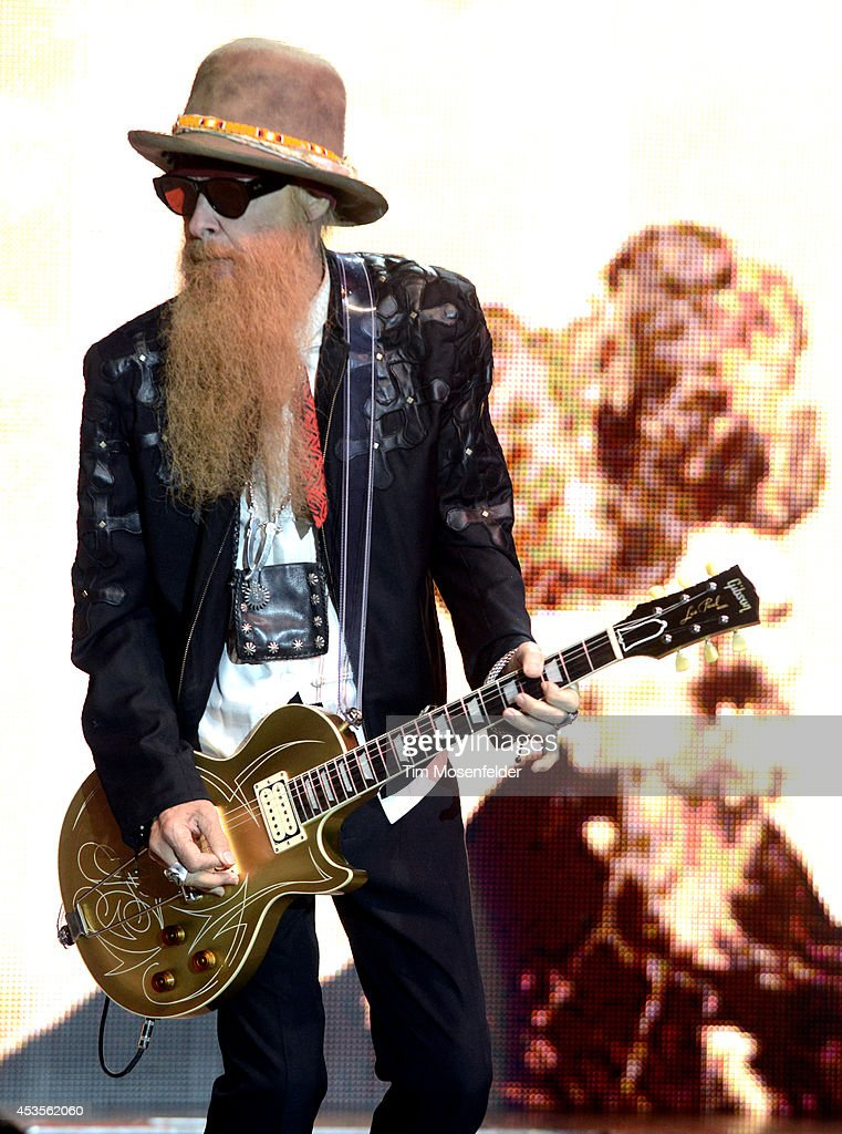 Billy Gibbons of ZZ Top performs as part of the 'Beards N' Beck Tour 2014' at The Mountain Winery on August 12, 2014 in Saratoga, California.