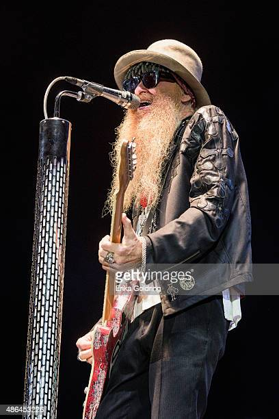 Billy Gibbons of ZZ Top performs at Champions Square on September 3 2015 in New Orleans Louisiana