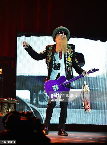 Billy Gibbons of ZZ Top performs at Hard Rock Live in the Seminole Hard Rock Hotel Casino on December 28 2013 in Hollywood Florida
