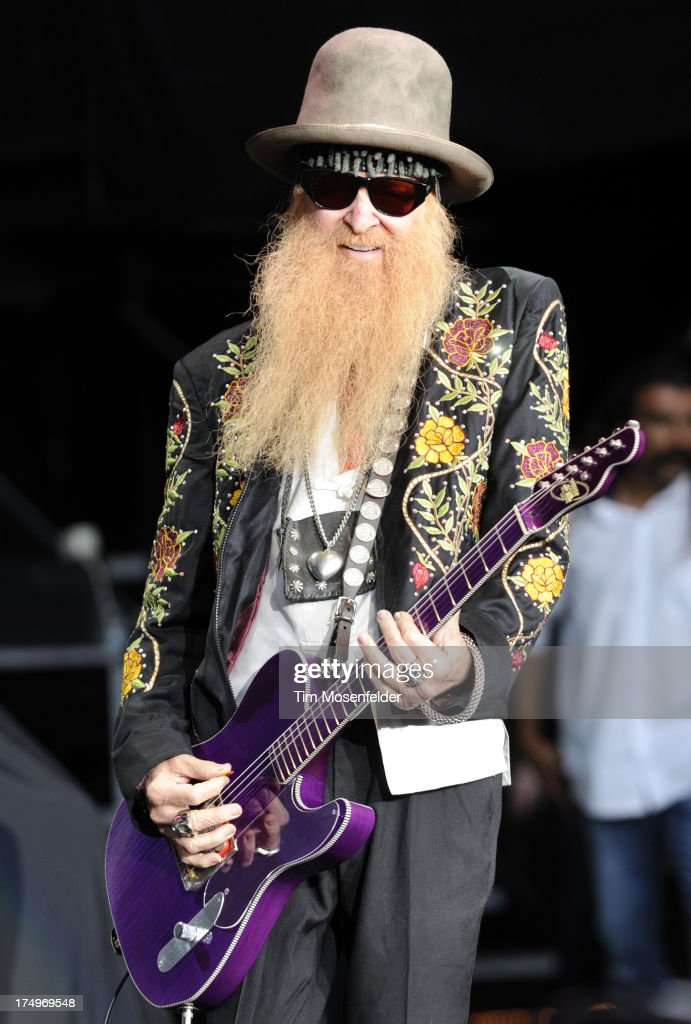 Billy Gibbons of ZZ Top performs at Shoreline Amphitheatre on July 28, 2013 in Mountain View, California.