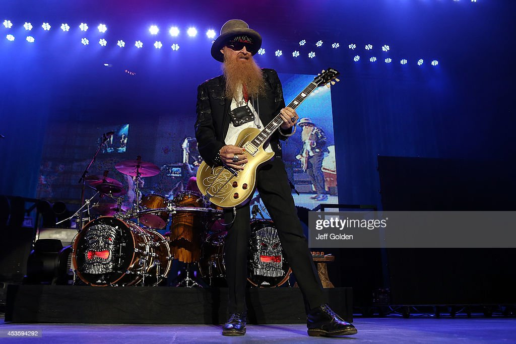Billy Gibbons of ZZ Top performs at The Greek Theatre on August 13, 2014 in Los Angeles, California.