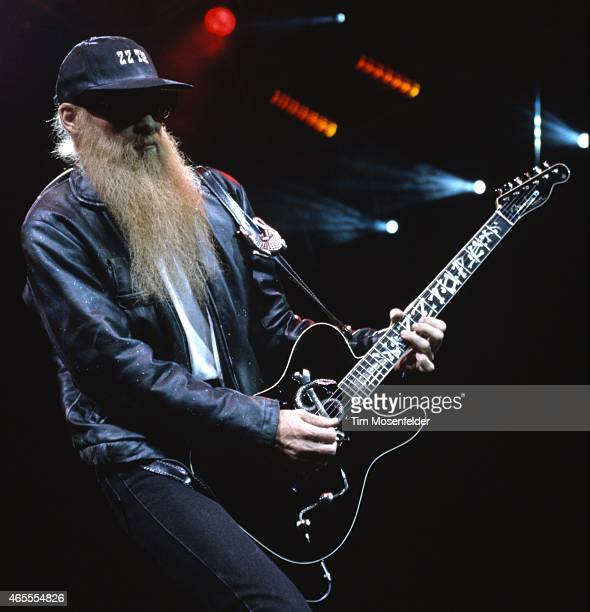 Billy Gibbons of ZZ Top performs at the San Jose Arena on May 26 1994 in San Jose California
