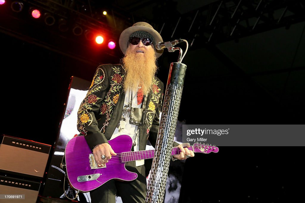 <a gi-track='captionPersonalityLinkClicked' href=/galleries/search?phrase=Billy+Gibbons&family=editorial&specificpeople=242873 ng-click='$event.stopPropagation()'>Billy Gibbons</a> of ZZ Top performs during the 2013 Bonnaroo Music & Arts Festival on June 14, 2013 in Manchester, Tennessee.