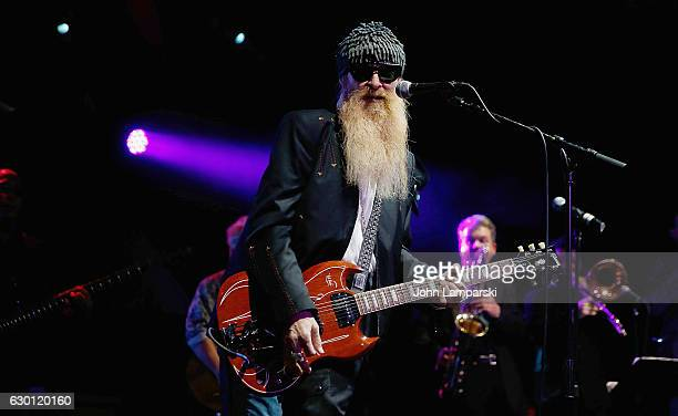 Billy Gibbons of ZZ Top performs during the 2016 Wall Street Rocks for Our Heroes at Highline Ballroom on December 16 2016 in New York City