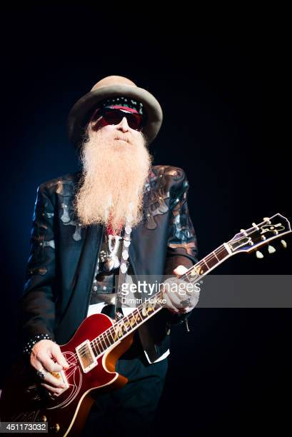 Billy Gibbons of ZZ Top performs on stage at Heineken Music Hall on June 24 2014 in Amsterdam Netherlands