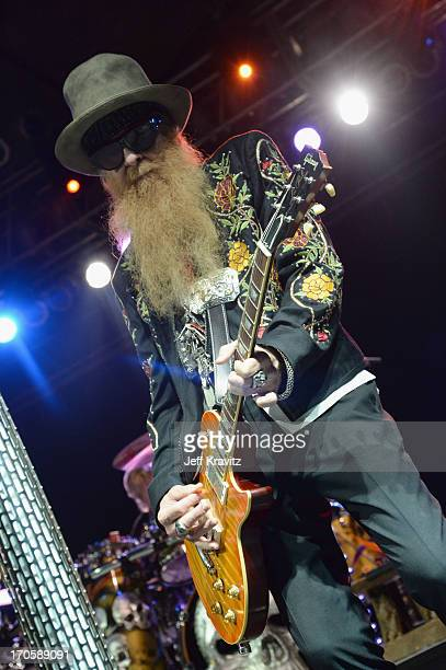 Billy Gibbons of ZZ Top performs onstage at This Tent during day 2 of the 2013 Bonnaroo Music Arts Festival on June 14 2013 in Manchester Tennessee