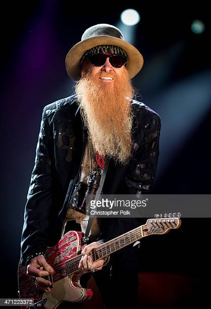 Billy Gibbons of ZZ Top performs onstage during day two of 2015 Stagecoach California's Country Music Festival at The Empire Polo Club on April 25...