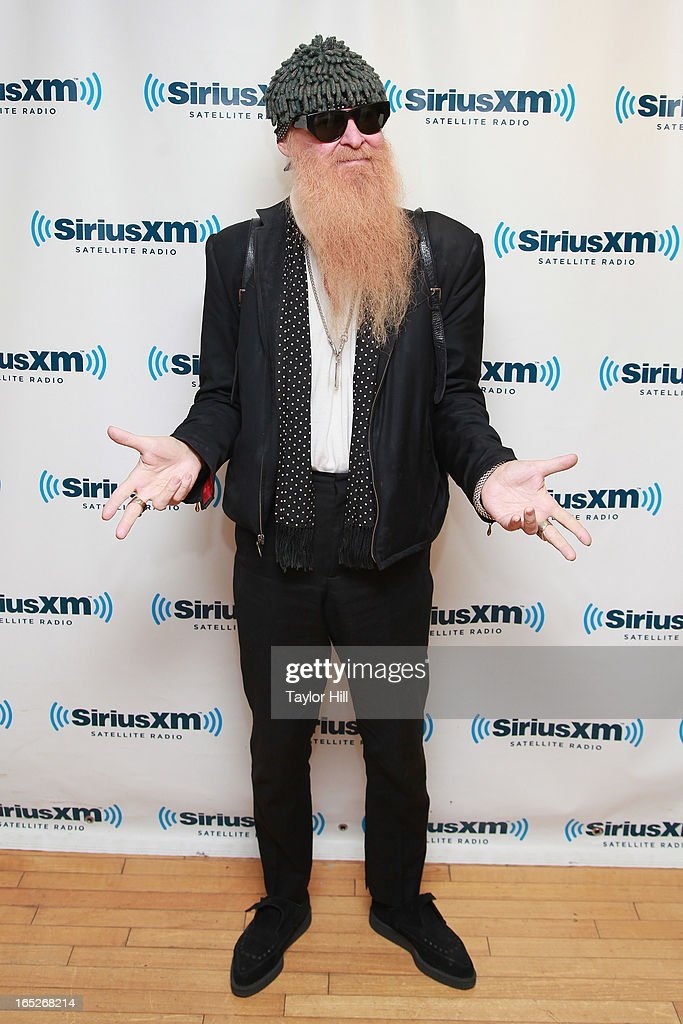 Billy Gibbons of ZZ Top visits the SiriusXM Studios on April 2, 2013 in New York City.
