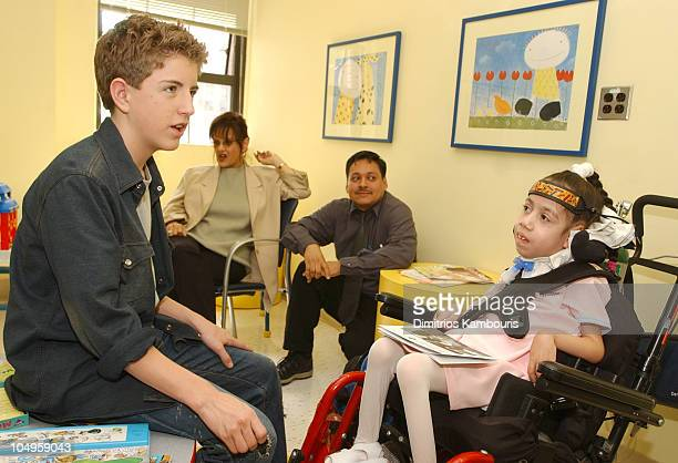 Billy Gilman and Jasmine Ramos during Billy Gilman Visits MDA Clinic on the Release of His New CD at Columbia Presbyterian Medical Center in New York...