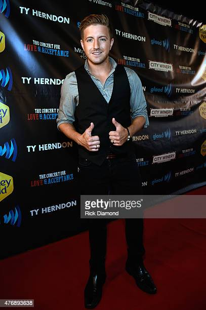 Billy Gilman attends The Concert For Love And Acceptance at City Winery Nashville on June 12 2015 in Nashville Tennessee
